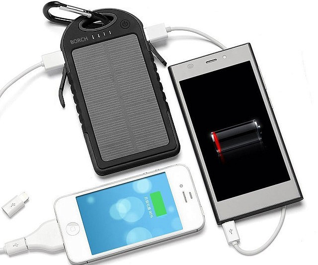 Solar power based remote mobile battery charging technology