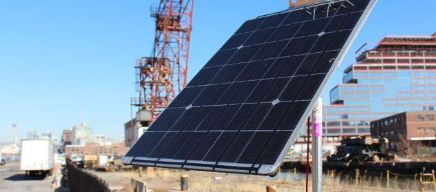 Solar smartphone charging station