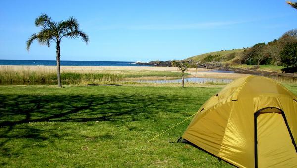 Beach camping site